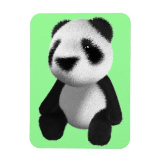 Cute 3d Panda Bear Sitting (editable) Magnet