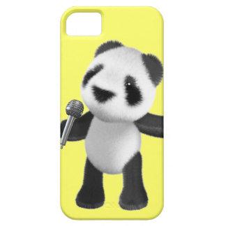 Cute 3d Panda Sings microphone (editable) iPhone 5 Cover
