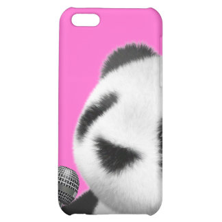 Cute 3d Panda Sings with a Mic (editable) iPhone 5C Cases