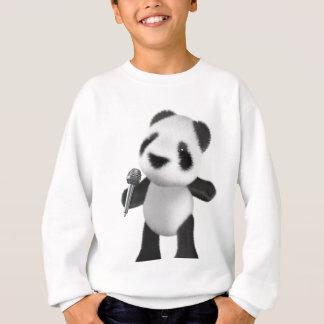 Cute 3d Panda Sings with a Mic (editable) Sweatshirt