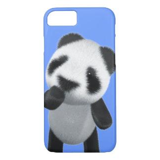 Cute 3d Panda Thinks (editable) iPhone 8/7 Case