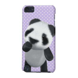 Cute 3d Panda Thinks (editable) iPod Touch (5th Generation) Case