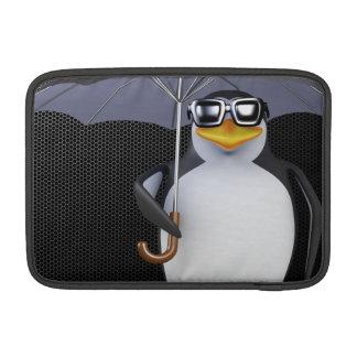 Cute 3d Penguin loves the rain (editable) MacBook Air Sleeve