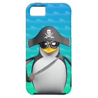 Cute 3d Penguin Pirate (editable) iPhone 5 Cases