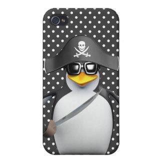 Cute 3d Penguin Pirate iPhone 4 Cases
