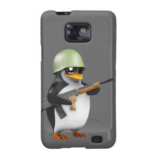 Cute 3d Penguin Soldier (editable) Samsung Galaxy SII Case