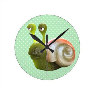 Cute 3d Snail Clock