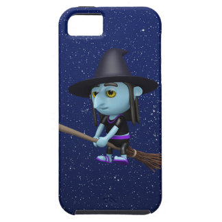 Cute 3d Witch Flying Broomstick (editable) iPhone 5 Cover
