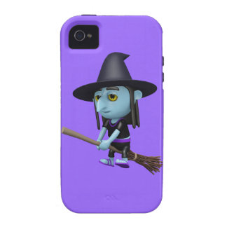 Cute 3d Witch Flying Broomstick (editable) Vibe iPhone 4 Covers