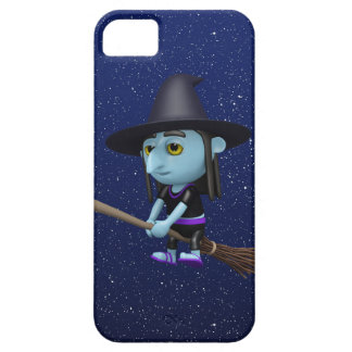 Cute 3d Witch Flying Broomstick (editable) iPhone SE/5/5s Case