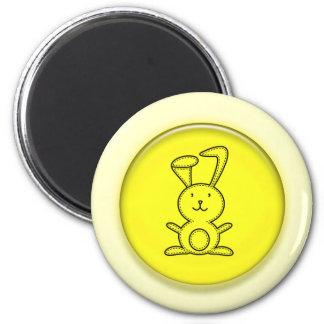 Cute 3D Yellow Bunny Cartoon Fridge Magnets