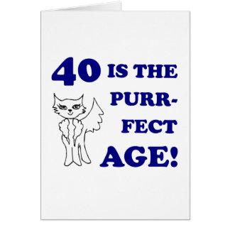 Cute 40th Birthday Present Greeting Card