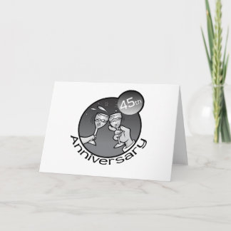 "Cute, ""45th Anniversary"" design Card"