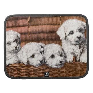 cute 4 fluffy puppies rickshaw planner