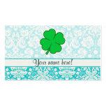 Cute 4 Leaf Clover Business Card Template