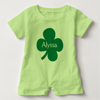 Cute 4 Leaf Clover Personalized St Patricks Day T Shirt