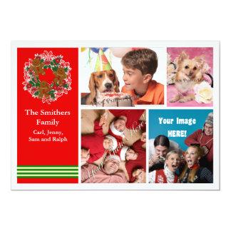 Cute 4 Photo Family Christmas Card