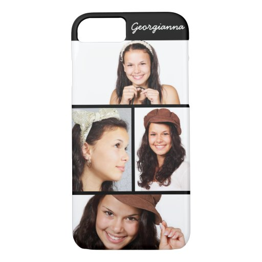 Cute 4 Photo Personalized iPhone 8 7 Case