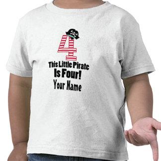 Cute 4th Birthday Pirate Themed T-shirt