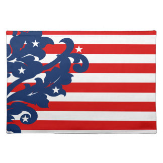 Cute 4th of July damask Placemat