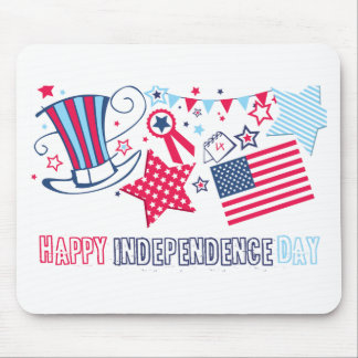 Cute 4th of July Happy Independence Day Gifts Mouse Pad