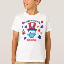 Cute 4th of July Patriotic Owl T-Shirt