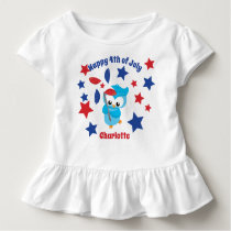 Cute 4th of July Patriotic Owl Toddler T-shirt