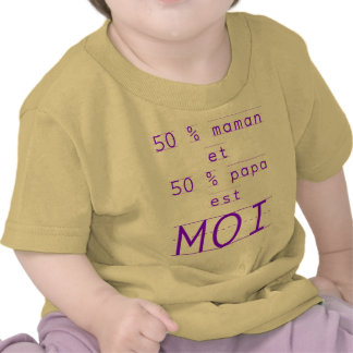 cute 50 % Mommy and daddy is me Tees