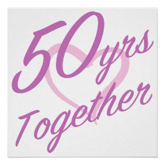 Cute 50th Anniversary Poster