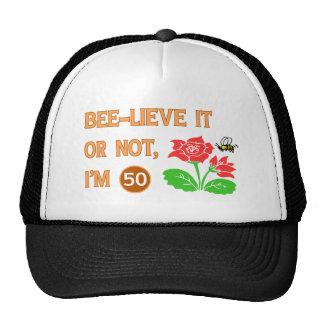 Cute 50th Birthday Gift Idea Hats