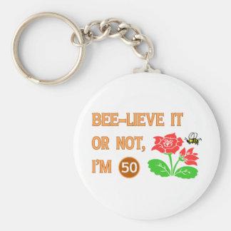 Cute 50th Birthday Gift Idea Keychains