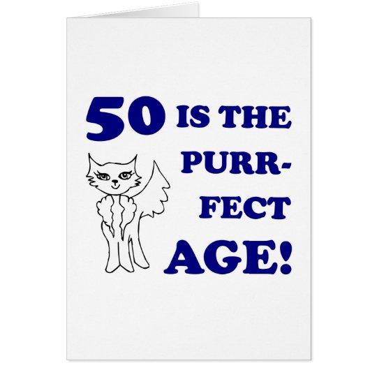 Cute 50th Birthday Present Card
