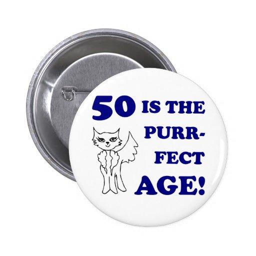 Cute 50th Birthday Present Pinback Button