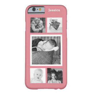 Cute 5 Instagram Photo Personalized Collage Barely There iPhone 6 Case