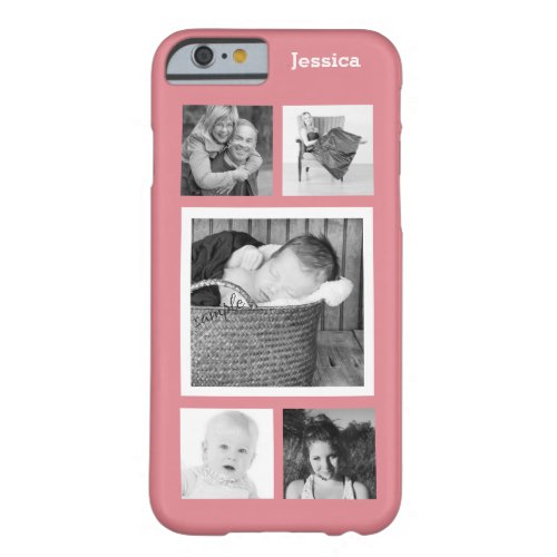 Cute 5 Instagram Photo Personalized Collage Phone Case