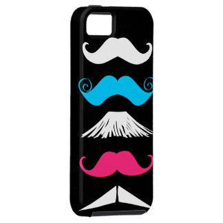 Cute 5 Trendy Mustaches iPhone 5 Cases