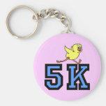 Cute 5K Basic Round Button Keychain