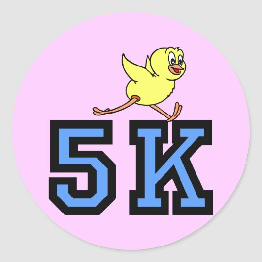 Cute 5K Classic Round Sticker