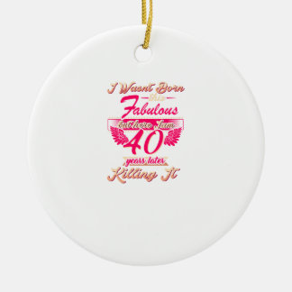 Cute 65th year birthday party gift tshirt ceramic ornament