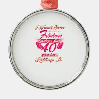 Cute 65th year birthday party gift tshirt metal ornament