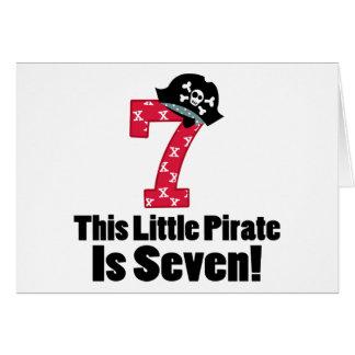 Cute 7th Birthday Pirate Card