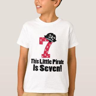 Cute 7th Birthday Pirate T-Shirt