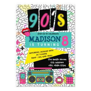 90s Theme Invitations Zazzle