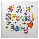 Cute A Special Baby Greeting Text Expression Napkins