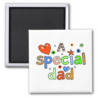 Cute A Special Dad Greeting Text Expression Fridge Magnet