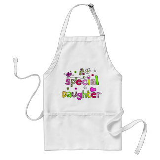 Cute A Special Daughter Greeting Text Expression Adult Apron