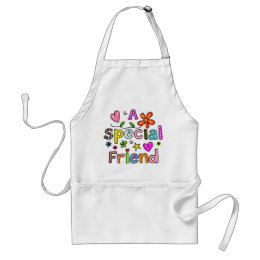 Cute A Special Friend Greeting Text Expression Adult Apron