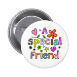 Cute A Special Friend Greeting Text Expression Button