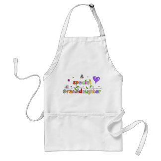 Cute A Special Grand Daughter Text Expression Adult Apron