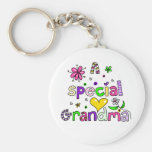 Cute A Special Grandma Granny Text Expression Keychains